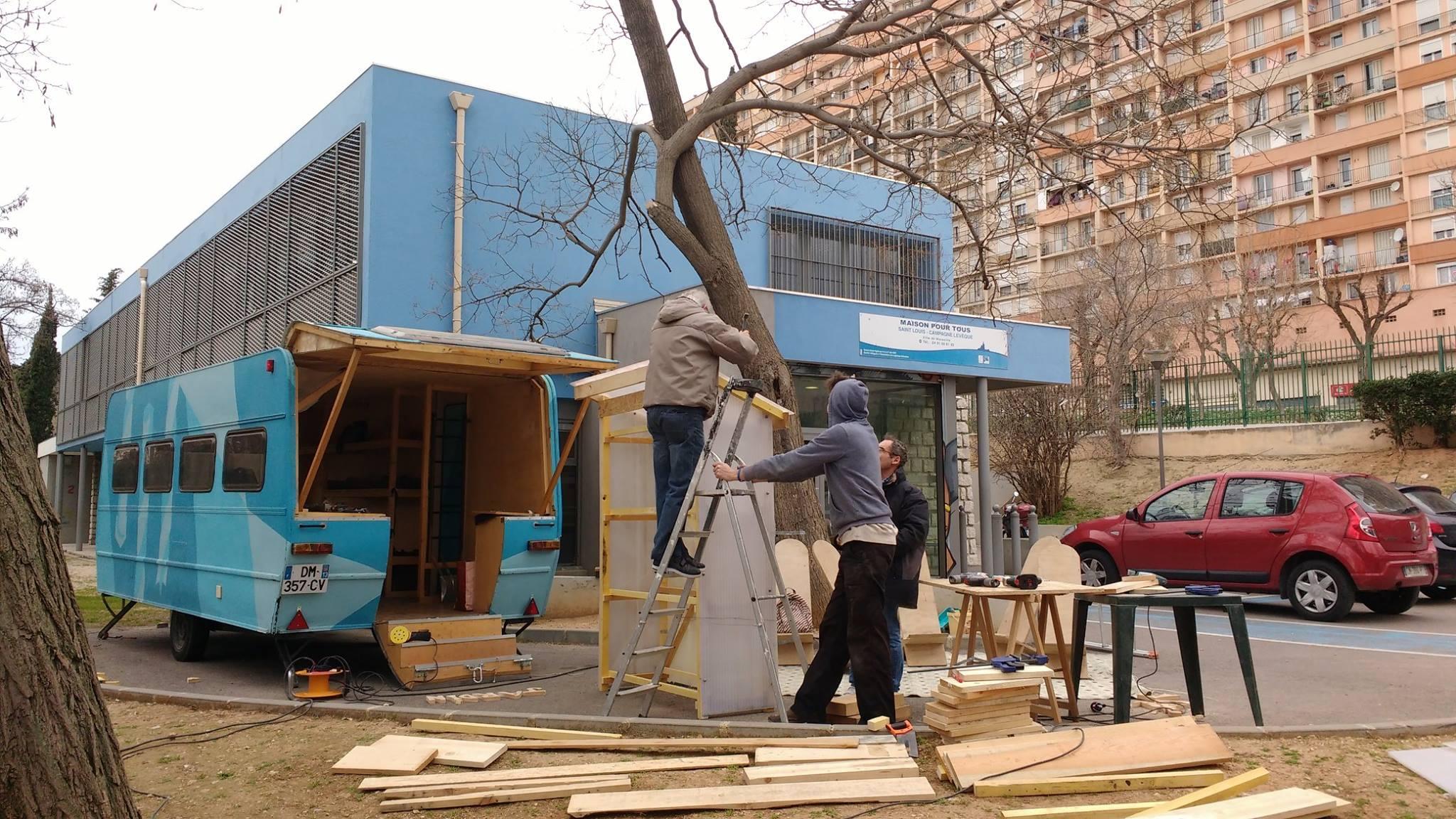Construction d'une serre à semis à Campagne Lévêque